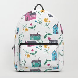 Houses and Flowers Backpack