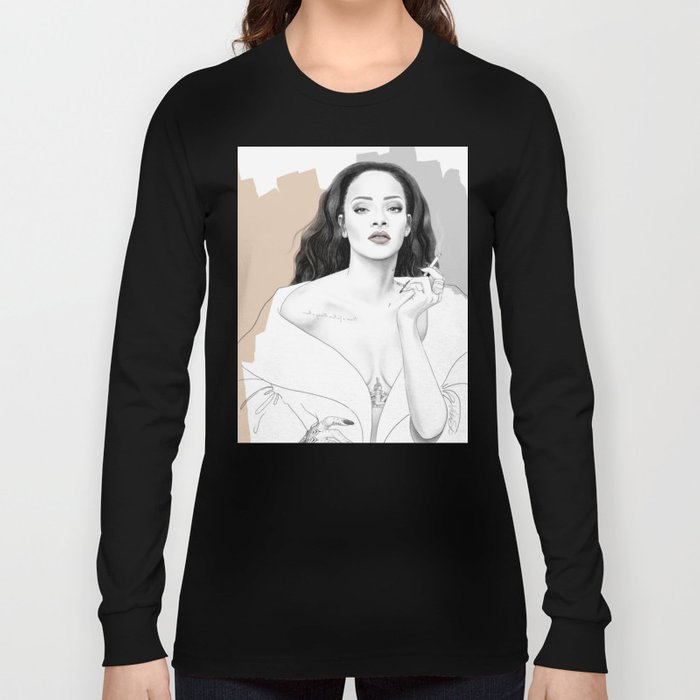 Rihanna Long Sleeve T-shirt