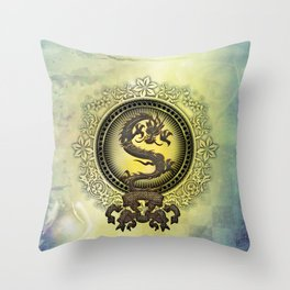 The chinese dragon Throw Pillow
