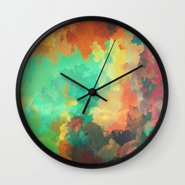 Cloudy in Paradise Wall Clock
