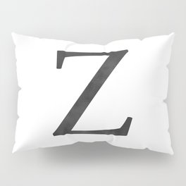 Letter Z Initial Monogram Black and White Pillow Sham
