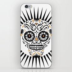 Sugar Skull SF - white iPhone & iPod Skin