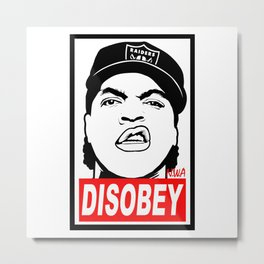 Disobey Cube Metal Print