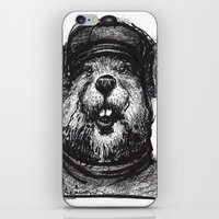 beaver iPhone & iPod Skins featuring Mr. Beaver by Mitzek