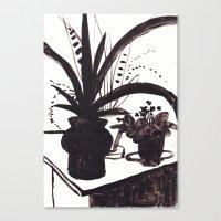 plants Canvas Prints featuring Plants by Olga Rezontova