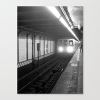 subway Canvas Prints featuring Subway by Lisa Marie