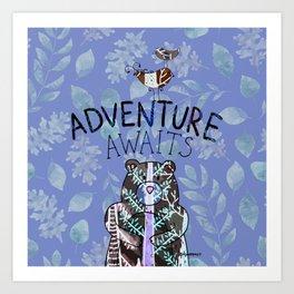 Adventure Awaits - Bagaceous Art Print
