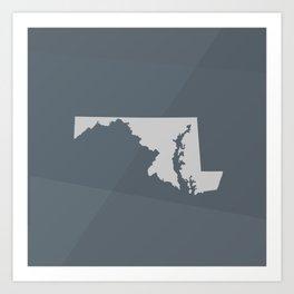 Maryland State Art Print