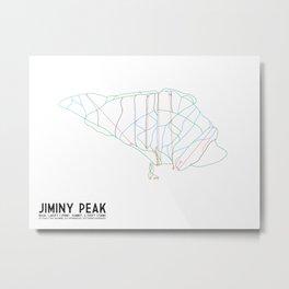 Jiminy Peak, MA - Minimalist Trail Art Metal Print