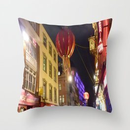 Christmas China Town, London  Throw Pillow