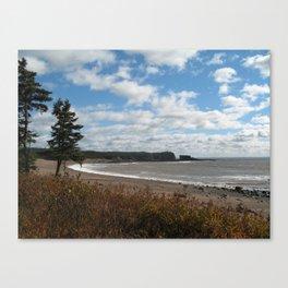 New Brunswick Shoreline Canvas Print