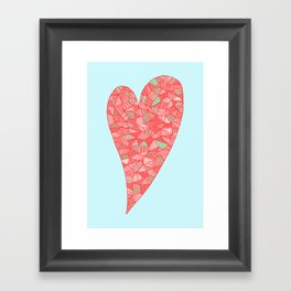 Puzzled Heart Framed Art Print