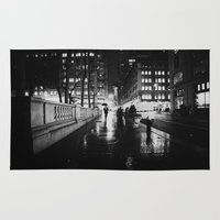 new york city Area & Throw Rugs featuring New York City Noir by Vivienne Gucwa
