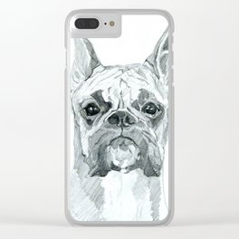 The Boxer Dog Miley Clear iPhone Case