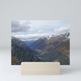 Arthur's Pass Valley Mini Art Print