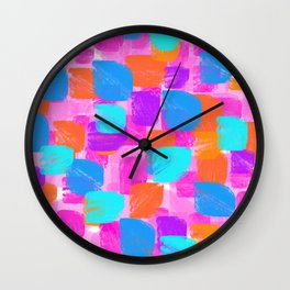 happy blobs Wall Clock