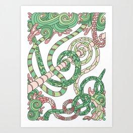 Wandering 46: color variation 3 Art Print