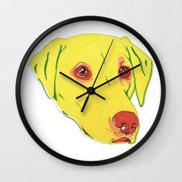 Yellow Labrador Wall Clock