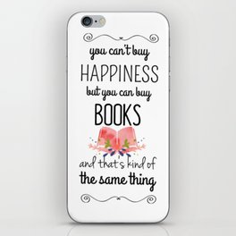 you can buy books iPhone Skin