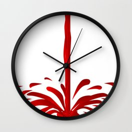 Pouring Red Wine Wall Clock