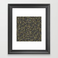 Ab Out Double Repeat Black Framed Art Print