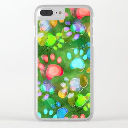 Dog Paw Prints Clear iPhone Case