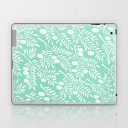 Mint Olive Branches Laptop & iPad Skin