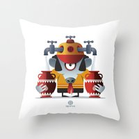aquarius Throw Pillows featuring AQUARIUS by Angelo Cerantola