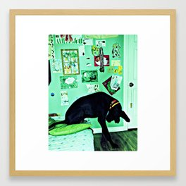 just like the man whose feet were too big for his bed. Framed Art Print