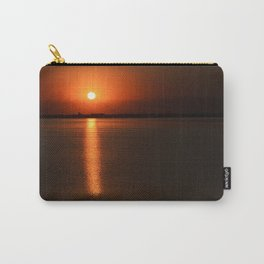 Red sunset over the water Carry-All Pouch