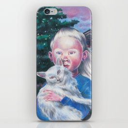 Albino cat iPhone Skin