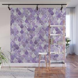 Mermaid Art, Cute Purple, Fun Bathroom Art Wall Mural