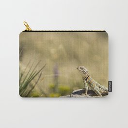 Lizard At Attention Carry-All Pouch
