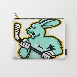 Jackrabbit Ice Hockey Player Mascot Carry-All Pouch