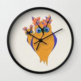 Owls In Celebration Wall Clock