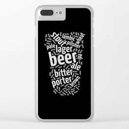 Beer Glass Word Clear iPhone Case