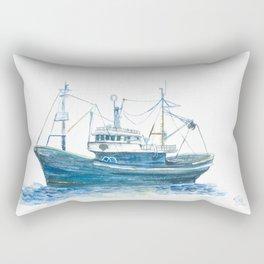 Blue boat Rectangular Pillow