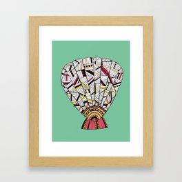 Sunrise Shell Framed Art Print