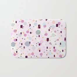 Watercolor Splash Effect Pattern Bath Mat