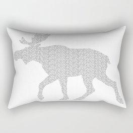 Moose Code Rectangular Pillow