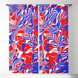 red white and blue 2 Blackout Curtain