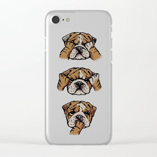 Noevil English Bulldog Clear iPhone Case