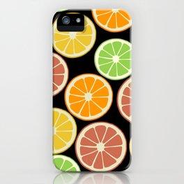 Citrus Fruit Slices, Oranges, Limes, Lemons iPhone Case