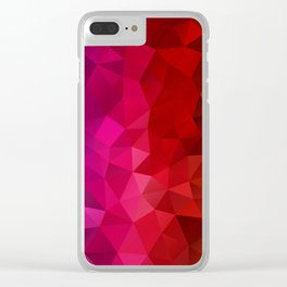 Rainbow Polygons Clear iPhone Case