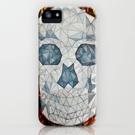 Galvanized Skull iPhone Case