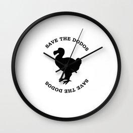 save the dodos Wall Clock