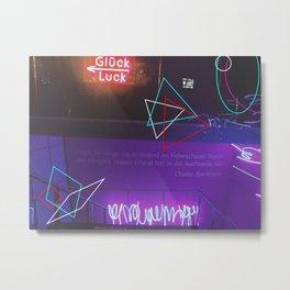 Neon Geometry.. Metal Print