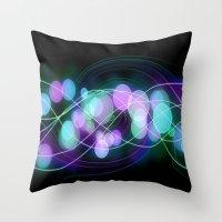 dna Throw Pillows featuring DNA by Dark-Wolf-Studios