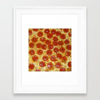 pizza Framed Art Prints featuring Pizza by Katieb1013