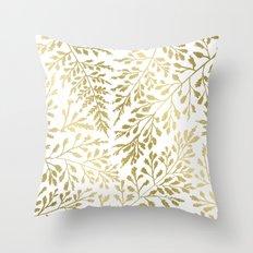Foliage Gold Throw Pillow